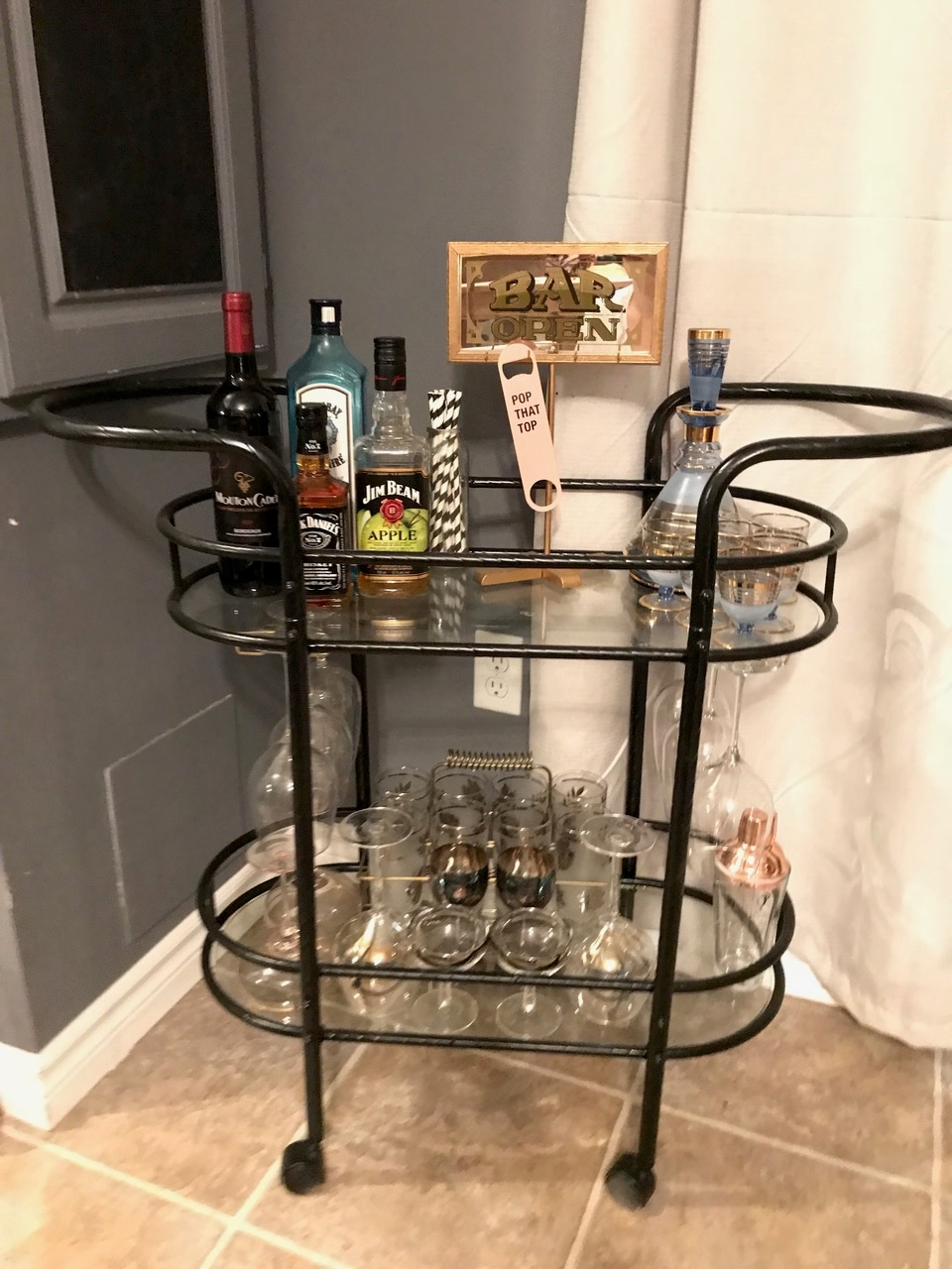 Easy DIY Bar Cart with Nicole