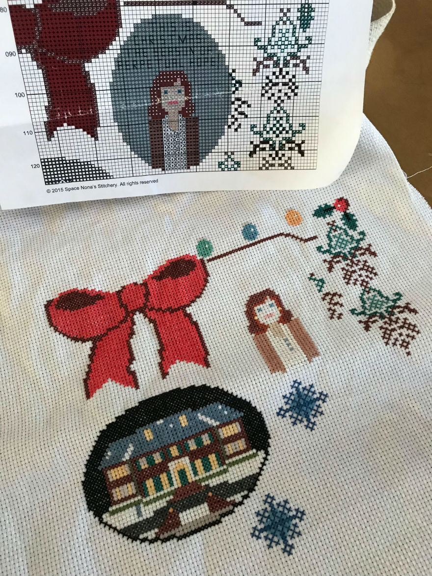 It's never too early to talk about Christmas cross stitching