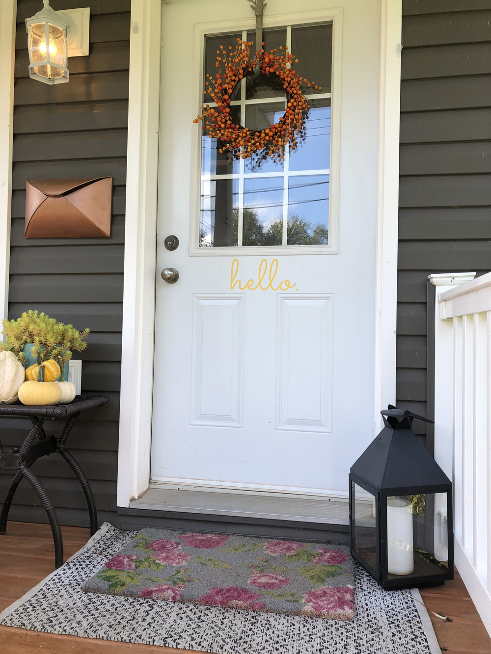 Quick and Easy Fall Porch Update with Nicole