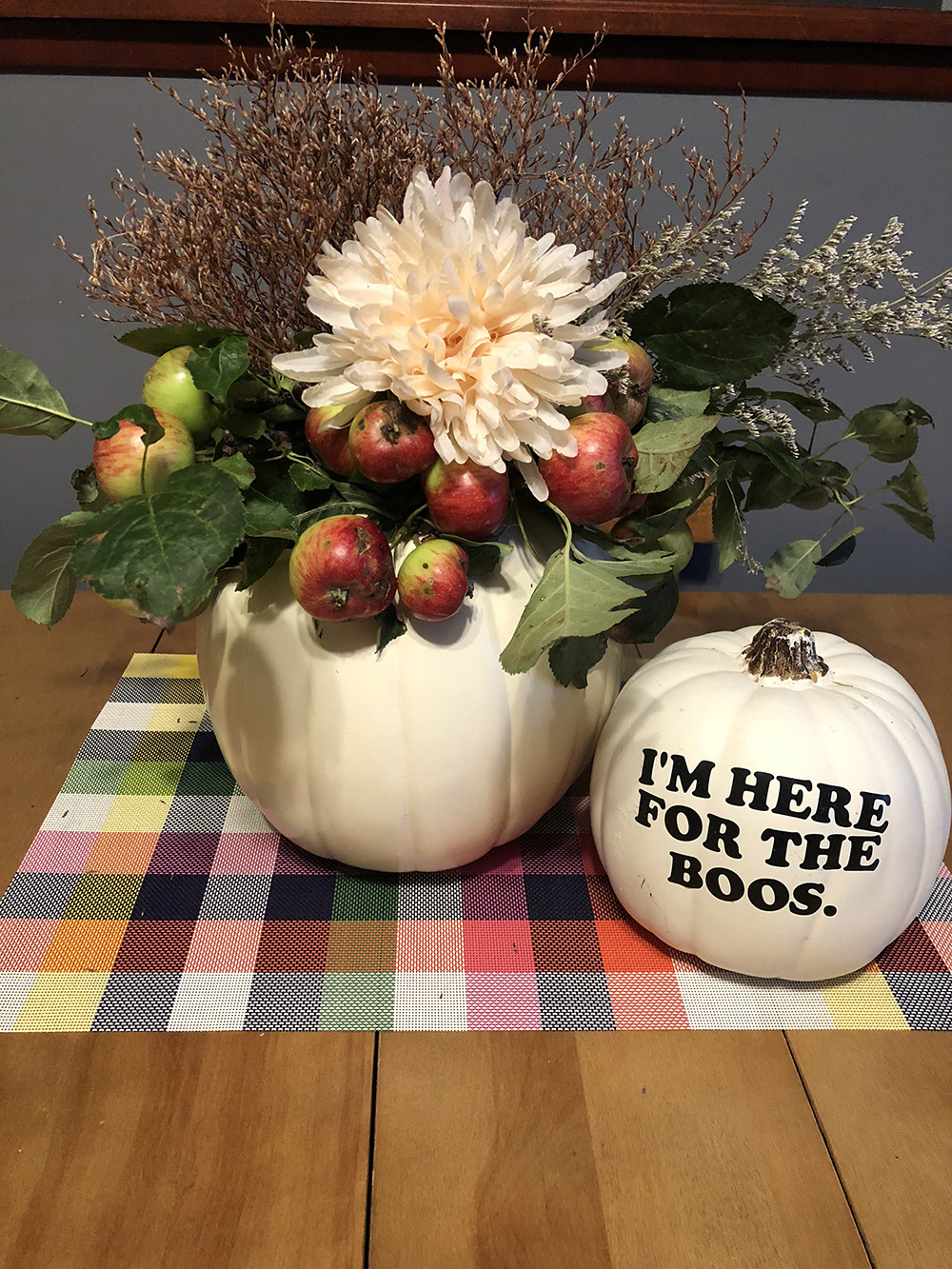 Quick and Gourd-geous Pumpkin Centrepieces