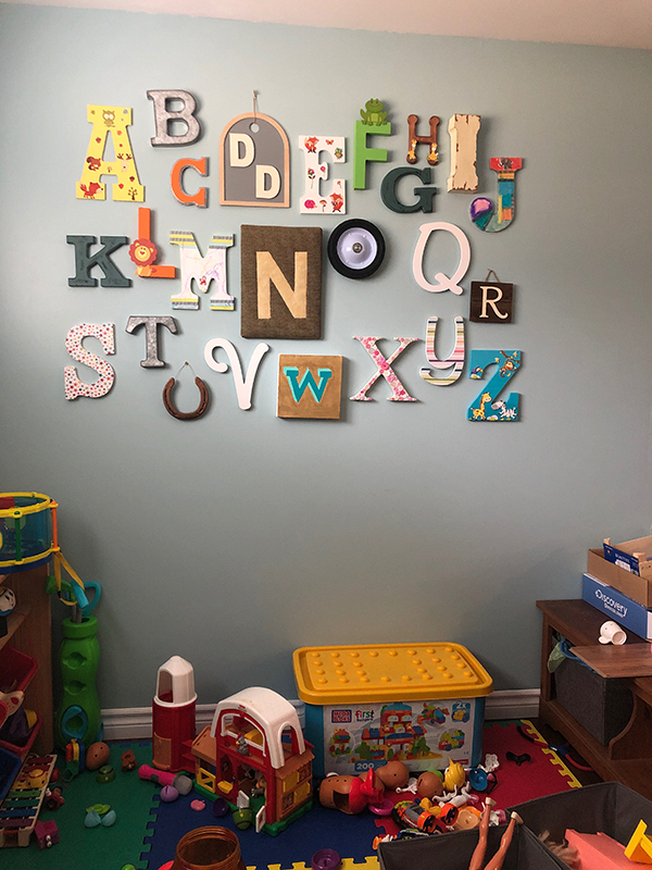 The ABC's of Creating an Alphabet Wall With Nicole
